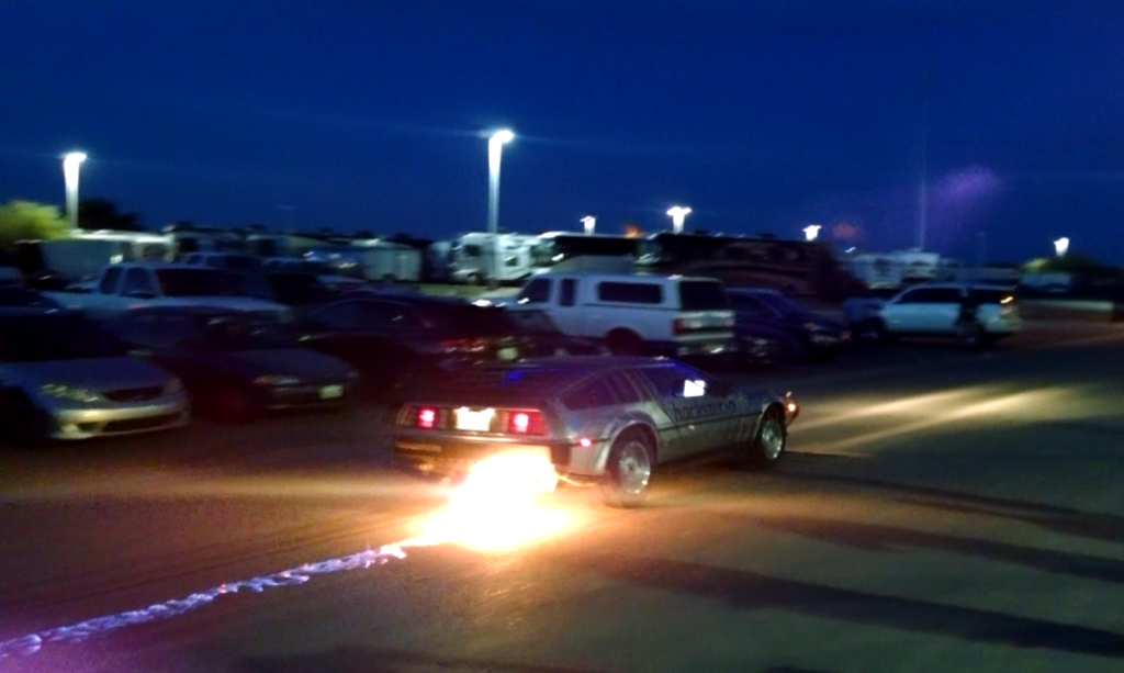 A team of ASU students hacked a DeLorean to recreate the iconic movie scene